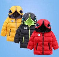 Wholesale Teenage Boys Winter Coats - New Children's Winter Jackets Boys Winter Coats Kids Boys Girls Warm Thick Hooded With Glasses Coats For Teenage Clothes