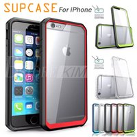 Wholesale Hard Case Bumper Black - SUPCASE For iPhone 6 7 7plus Hybrid Transparent Hard Back Colorful Bumper Case TPU PC iPhone 6 Plus Note 5 Cases Retail Package