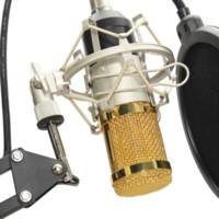 Wholesale Sponge Mic - BM-800 Condenser Microphone Professional Kit Set Broadcast Studio Recording Mic With Arm Boom Stand +Pop Filter+Sponge Foam