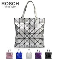 Wholesale Wholesale Bao - Wholesale- Japanese Women BAO BAO Bag Geometry Style Luxury Brand Ladies Shoulder Bags Top Quality PU Leather Baobao Casual Handbag Totes
