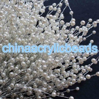 Wholesale Berry Beads Acrylic - Wholesale 32CM Length 6MM Acrylic Imitation Pearl Bead Twig Tree Branch Berry Twig Garland For Wedding Decor