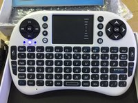 Wholesale Arabic Ipad - Hebrew Arabic English Russian Spanish Italian i8 Mini Wireless Bluetooth Keyboard Touch Pad Air Mouse for PC Laptop iPad Android TV Box
