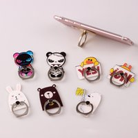 Wholesale cute rabbit phone holder online – Universal Degree Cute Cartoon Rabbit Bear Duck Finger Ring Holder Phone Stand For iPhone s Samsung For Mobile Phones