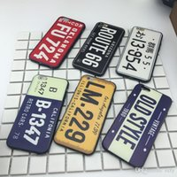 Wholesale Car License Plate Covers - Drop shipping Car License Plate Number Phone Case iPhone 7 Plus 6 6s TPU Cases Car Number License Plate Capa Funda 8 colors Coque Cover