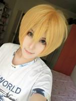 Wholesale Kise Wig - MCOSER Free Shipping Kuroko no Basuke Kise Ryota 13 Inches Blonde Boy Synthetic Short Cosplay Wig