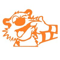 Wholesale Wholesale Tiger Wall Decals - Wholesale 10pcs lot Cute Little Cartoon Tiger Faces Animal Lover Art Car Sticker for Motorhome Wall Motorcycle Laptop Car Decor Vinyl Decal