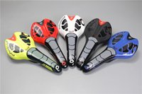 Wholesale Seat Saddle Cushion Bike - 2017 New Italy Super leather prologo CPC road bike saddle black white red yellow blue cycling bicycle cushion seat free shipping