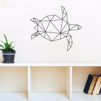 Wholesale Turtle Wall Decals Removable - Geometric Animal Turtle Vinyl Wall Art Stickers Creative Wall Decor for Livingroom Bedroom Various Color Offer Drop Shipping