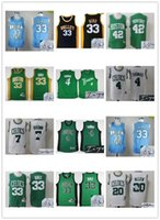 Wholesale Larry Allen Jersey - Basketball Boston Indiana State Signature Jersey Signed Men Youth Celtice 4 Isaiah Thomas 33 Larry Bird 20 Ray Allen 42 Al Horford throwback