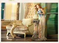 Landing Living Room Large Floor Fountain Water Decoration Female European  Creative Decoration Angel Resin Crafts Waterscape