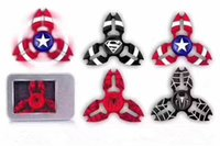 Wholesale Triangle Angle Wholesale - New four Aluminum Alloy Hand Spinner 7.5cm Metal Tri-Spinner Fidget Toy Half-angle Triangle Fidget Spinner EDC Crab Design HandSpinner Toys