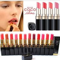 Wholesale lip creme resale online - 12pc New makeup C Lipstick Hydrating lipstick CREME LIP Diff COLOUR Rouge G