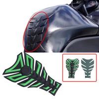 Wholesale Motorcycle Tank Decorations - Universal 3D 3M Rubber Motorcycle Modified Fuel Tank Pad Cover Protector Sticker Decoration Decal for Harley Honda Suzuki