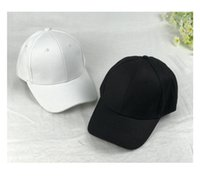 Wholesale Black Visors - Solid all-match leisure hat adjustable bending and peaked cap rod black ball cap visor couple sun hat
