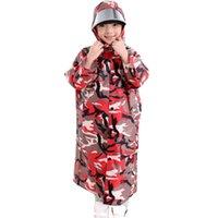 Wholesale Rain Gear Boys - New Arrival Camouflage Poncho Kids Raincoat Boys Girls Rainwear Children Rain Coat Outside Travel Rain Gear