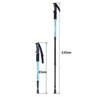 "Wholesale Walking Sticks 26 - Fashion Multicolor Adjustable AntiShock Trekking Hiking Walking Stick Pole 3-section 66cm-135cm  26 "" to 53 "" with Dropshipping 1 pc"
