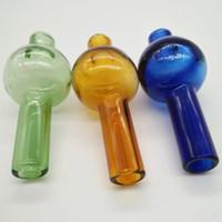 termal top toptan satış-Evrensel Renkli cam kabarcık karbonhidrat kapağı yuvarlak top kubbe XL için kalın Kuvars termal banger Çivi dab yağ kuleleri
