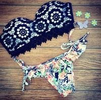 Wholesale Bikini 14 - Newest 2017 Women Bikini Sets Padded Bikini Brazilian Maillot De Bain Girl Sexy Push Up Swimwear Ladies Swimsuit Swimming Suit 14 Colors