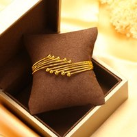 Wholesale 24k Gold Wedding Bangles - Luxury Bangles Hot Sales 24K Gold Plated Fine Jewelry New Arrival Size Adjustable Fashion Charms Wedding Dressed Gift Party Free shipping