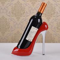 Wholesale Dispenser Bottle Holder - Glitter Stiletto Shoe 20cl Wine Bottle Holder High Heels Wine Racks Home Accessories Decorations Wine Cabinet Ornaments Creative Gifts
