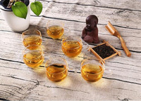 Wholesale clear coffee cups - Popular 100ml Glass Cups Heat Resisting Clear Handmade Crystal Mini kungfu Tea Coffee Milk Tea Round Drink Mug