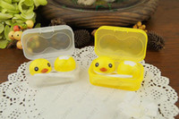 Wholesale New Cartoon Contact Lens Case Colorful Lovely CuteYellow Duck Contact Lens Box