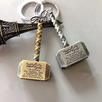 Wholesale Avengers Jewelry - The Avengers Thor Hammer Keychain key chain Metal pendant keyring movie jewelry key holder for man