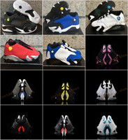 Wholesale Shoes For Childrens - Retro XIV 14 low Laney Indiglo Kids Basketball Shoes Childrens Shoes Vivid Green 14s Sneakers Shoes fashion trainers for boys girls