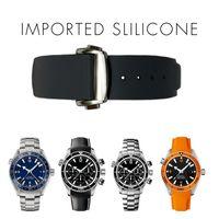 оранжевые наручные часы оптовых-20 мм ремешок для часов ремешки мужчины женщины оранжевый черный водонепроницаемый силиконовой резины ремешки для часов браслет застежка пряжка для омега планета-океан + инструменты