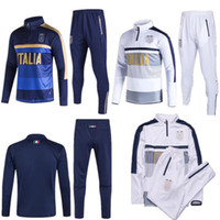 Wholesale Windproof Sweater - 2017 2018 Survetement football Italy tracksuit italia training suit kits Soccer Chandal italian training shinny tight pants sweater shirt