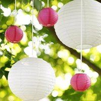 Wholesale free chinese lantern - New Arrival Chinese Paper Lantern Hangings Ornament 10 Inch 25cm Multi Color Lantern For Wedding Xmas New Year Decorations Free Shipping