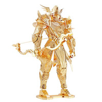 Wholesale Fantasy Models - Piececool Super Cool P072-G Knight Of Firmament Solider DIY 3D Metal Puzzle Kits Laser Cut Models Jigsaw Toys For Audit