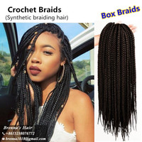 Wholesale Synthetic Hair Extensions Burgundy - Prelooped easy install hair with crochet needles 24inch Crochet Braids With Black blond and burgundy long hair 3s Box braids hair extensions