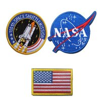 Wholesale Badge Army - VP-137 NASA 100th Space ShuttleMission US Flag Tactical Patch Morale Patches Hook & Loop 3D Embroidery Patches Badge Army Badges 10 sets fre