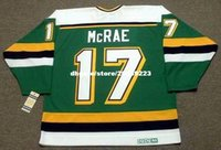 vendita all'ingrosso personalizzato Throwback Mens BASIL McRAE Minnesota North Stars 1989 CCM Vintage Away Cheap Retro Hockey Jersey