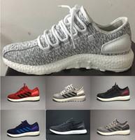Wholesale Cheap Men Shoes Online - High quality Pure Boost 2.0 Sports Shoes Men Women Pureboost Running Shoes Pure Boost Trainer sports Sneaker shoes Size 36-45 cheap online