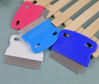 Wholesale Fine Toothed Comb - 500pcs lot Pet cleaning supplies Pet fleas comb Dog cat fine-toothed comb 6*5.5cm 15g Free Shipping