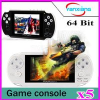 Wholesale Tft Video Out - 5pcs New Arrived 2017 64 Bit Handheld Game Console Mini Video Games Players HD TFT 4GB Game player YX-PAPPlus