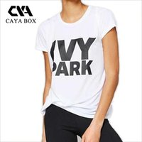 Wholesale Beyonce Clothing - Wholesale-CAYA BOX S-XXXL plus size beyonce t shirt women clothes 100% cotton ivy park letter print tee shirt woman tshirts
