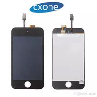 Wholesal buena calidad para Apple iPod Touch 4 LCD sin Dead Pixels pantalla táctil negro con digitalizador Full Assembly replacemen blanco DHL gratis
