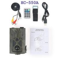 ingrosso nascondere la fotocamera per la casa-HC-550A Scouting Caccia Telecamera HC550A HD 1080 P 16MP Angolo di 120 gradi Sensore PIR Sight Trap Wildlife Game Trail Telecamere