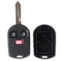 mazda anahtar davaları toptan satış-Garantili% 100% 3 Düğme Uzaktan Anahtar Araba Durumda Fob Anahtar Kabuk fit Ford Mercury Mazda Combo Ücretsiz Nakliye için fit