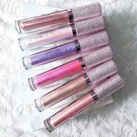 Wholesale Sexy Lipstick - NEWEST 6 Colors FOCALLURE Liquid Lipstick Sexy Metallic Dimond Shimmer Lip Gloss Long Lasting Waterproof Lipgloss VS Kylie Lip Kit