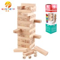 51 pcs / ensemble Domino couches numériques empilées grands blocs de construction Authentique Standard haute qualité en bois de hêtre jouets Early Intelligence Education