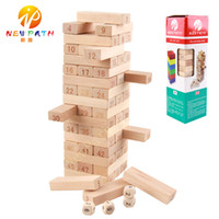 Wholesale Quality Intelligence - 51 pcs set Domino Digital Layers Stacked Tall Building Blocks Authentic Standard High Quality Beech Wooden Toys Early Intelligence Education