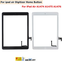 Vidro dianteiro para iPad 2 3 4 5 Air Mini 1 2 Touch Screen Digitizer Cabo Flexo Home Button Assembly com adesivo