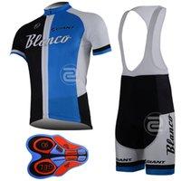 Wholesale Blanco Cycling Jersey Bib Short - 2017 New BLANCO team pro Cycling jersey bib shorts set fluor summer Sportswear Mountain Bike clothing Ropa Ciclismo MTB Bicycle Wear DBA06