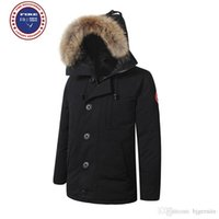 Wholesale Dog Down Coat - Big raccoon Fur 2017 Brand New Mens thick Goose Down Fire Rhinoceros CHATEAU Parka Coat Winter Warm Jacket