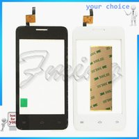 Wholesale Iphone Digitizer Colors - Wholesale- 2 Colors Phone Touhscreen Sensor For Fly FS403 Cumulus 1 FS 403 Touch Screen Front Glass Digitizer Panel Repair Part +tape