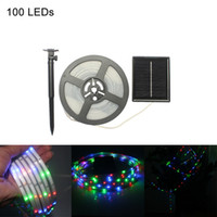 Wholesale Party Outdoors Lights Bar - Umlight1688 5M LED strip solar powered SMD2835 100Leds IP65 Waterproof indoor outdoor decoration Fairy light Xmas,Party,Garden,Bar